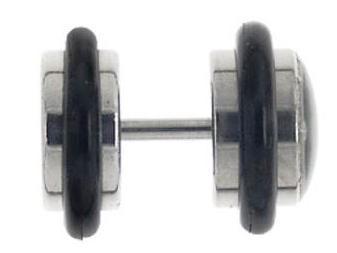 Fake Plugs ohne Dehnung des Ohrlochs tragbar