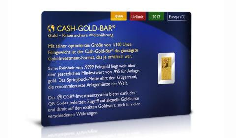 Cash Gold Bar – Mini Goldbarren