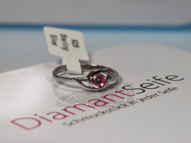Silberring mit rosa Stein