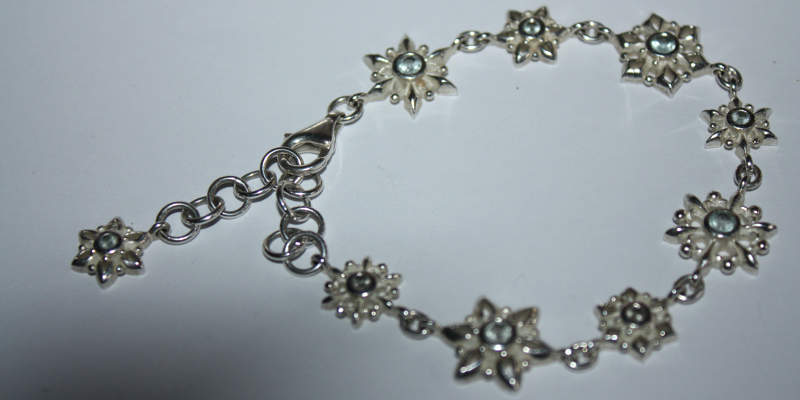 Silberarmband Heartbreaker Snowflake