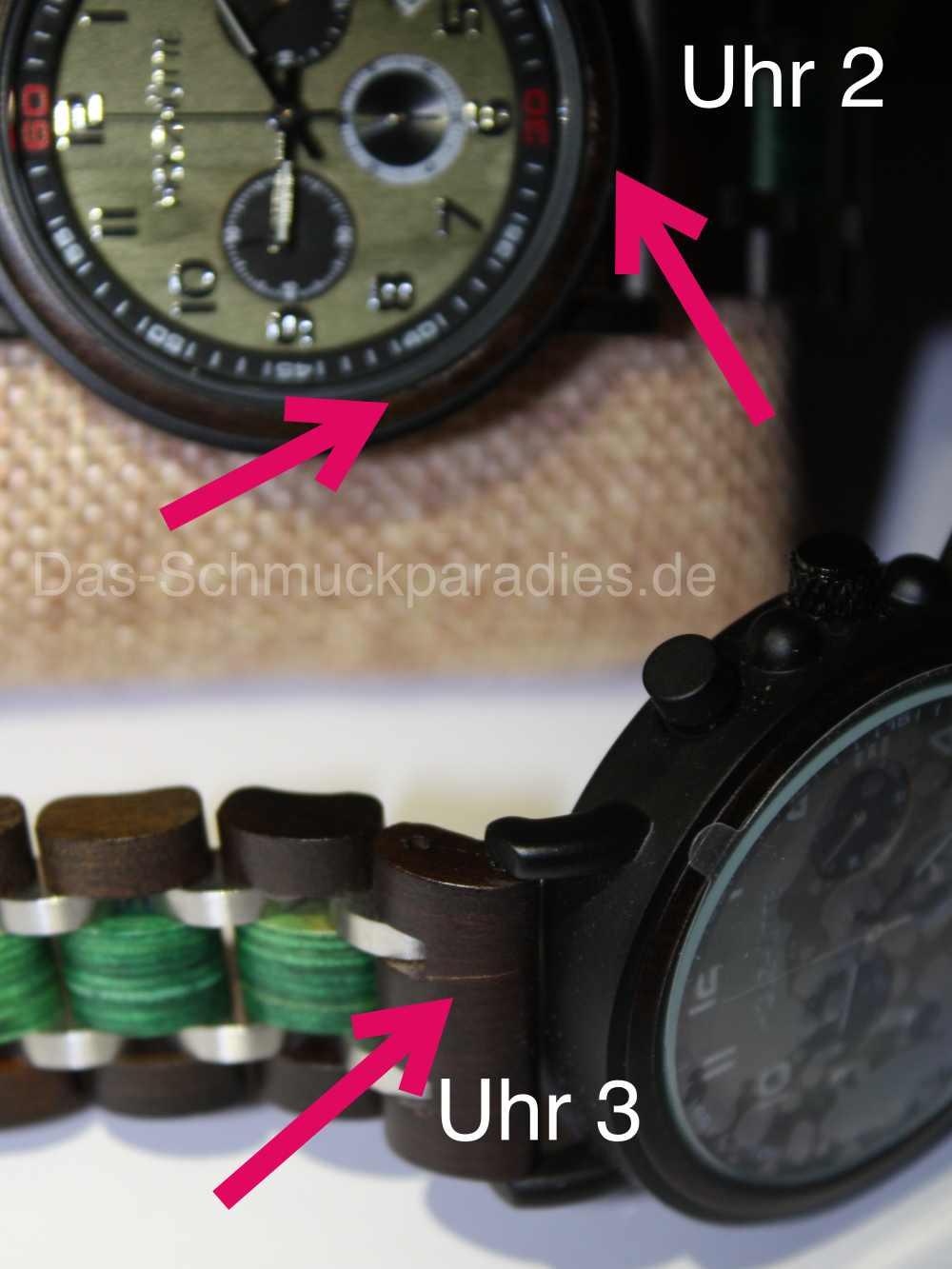 Uhr aus Holz - Holz gebrochen