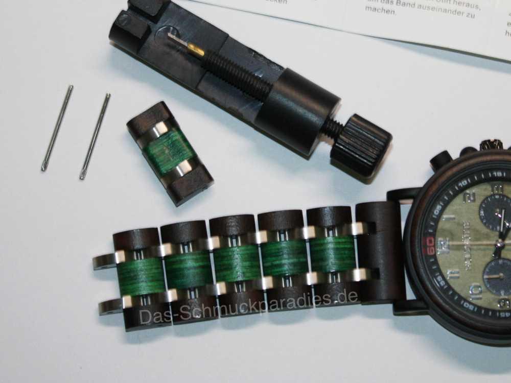 Uhrenwerkzeug, um Glieder zu entfernen